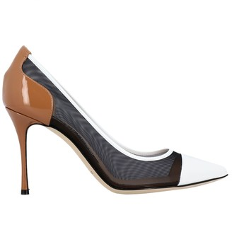 Sergio Rossi Pumps Godiva Décolleté In Mesh And Patent Leather