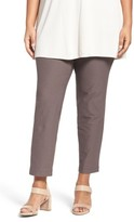 Eileen Fisher Plus Size Women's Slim Washable Stretch Crepe Ankle Pants