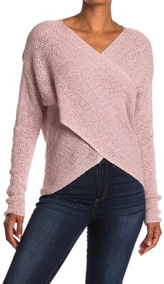 ASTR the Label Mae Crossover Knit Sweater
