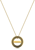 Kenzo Goldtone Reversible Logo Necklace