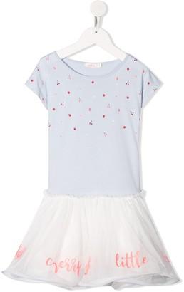 Billieblush Short Sleeve Cherry Print Dress