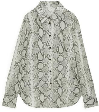 Arket Snake Print Jersey Shirt