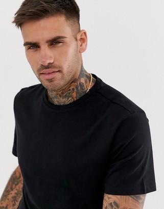 New Look crew neck t-shirt in black