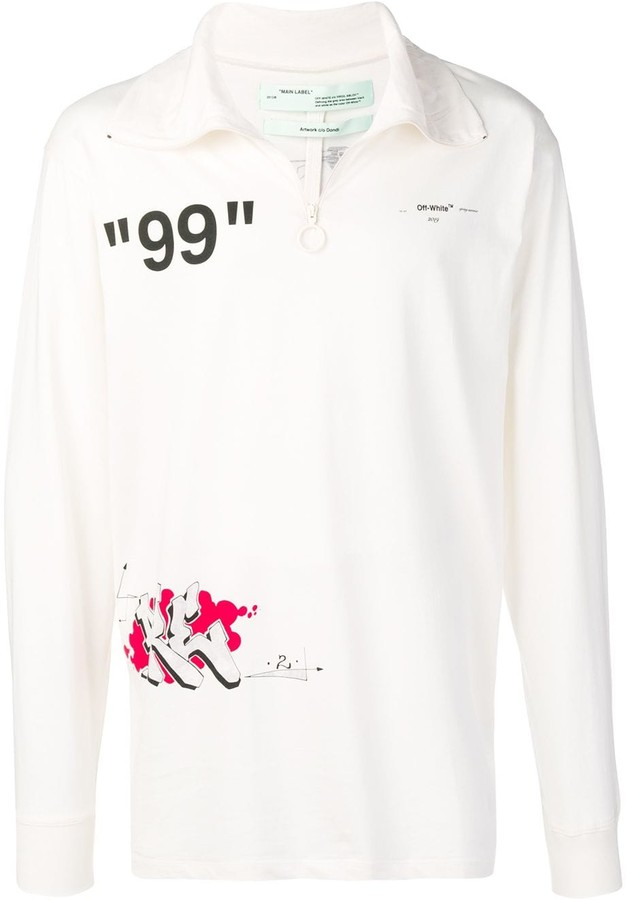 94af7f0d Off-White White Men's Tshirts - ShopStyle
