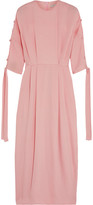 Emilia Wickstead Nina Silk-cloqué Midi Dress - Pink