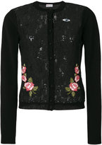 RED Valentino embroidered lace cardigan