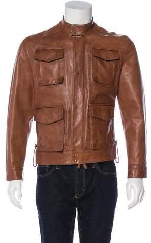 DSQUARED2 Leather Multi-Pocket Jacket