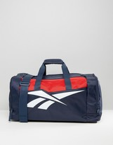 Reebok Classics Travel Bag In Navy & Red