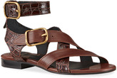 Chloé Daisy Mixed Leather Strappy Sandals