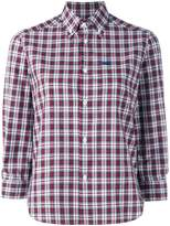 DSQUARED2 cropped sleeve plaid shirt