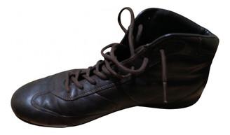 Prada Brown Leather Trainers