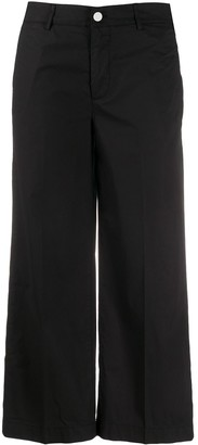 Dondup Cropped Wide Leg Trousers