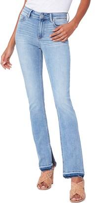 Paige Cindy Release Split Hem Straight Leg Jeans