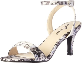 Annie Shoes Women's Lutrec Dress Sandal Black Floral 6 M US