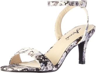 Annie Shoes Women's Lutrec Dress Sandal Black Floral 6 M US