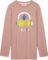 Fendi Sunflower headphone print cotton long-sleeved top 4-14 years