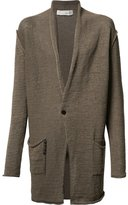 Isabel Benenato oversized pocket cardigan - men - Cotton - M