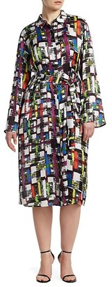 Marina Rinaldi, Plus Size Printed Shirtdress