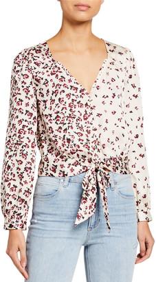 Paige Isadora Floral Tie-Front V-Neck Top