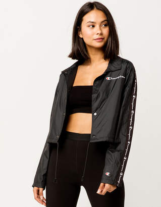 Champion Zipper Tape Cropped Womens Coaches Jacket