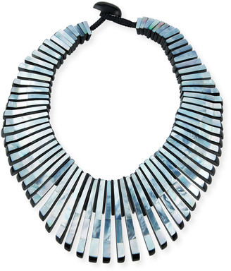 Viktoria Hayman Pharaone Large Necklace, Gray