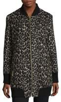 Sam Edelman Leopard Elongated Jacket