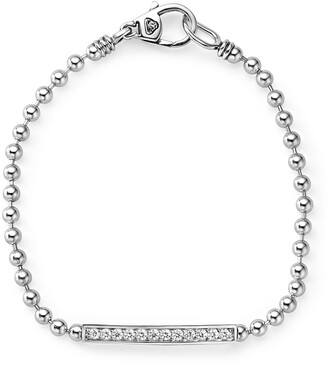 Lagos Caviar Spark Diamond Bar Chain Bracelet