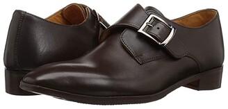 Carlos by Carlos Santana Freedom Monk Single Strap (Brown Full Grain Calfskin) Men's Shoes