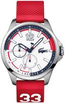 Lacoste Men's Capbreton Red Silicone Strap Watch