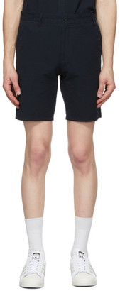 Norse Projects Navy Seersucker Aros Shorts