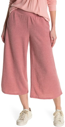 Gibson Ribbed Knit Wide Leg Crop Pants