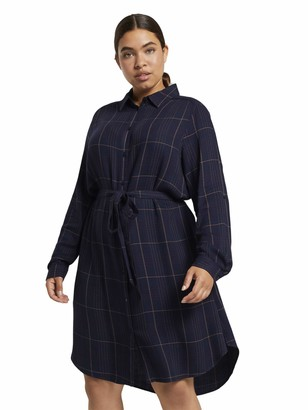 TOM TAILOR MY TRUE ME Women's Karo Gurtel Shirt Dress
