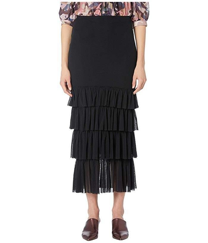 5be7fe83fca1 Black Ruffled Skirt - ShopStyle