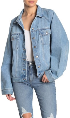 Madewell Raglan Oversized Jean Jacket (Regular & Plus Size)