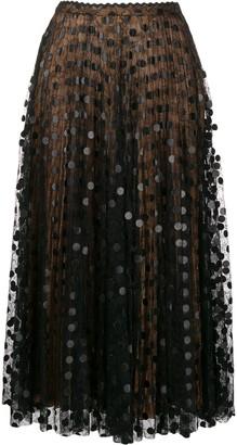 Marco De Vincenzo Lace-Panelled Midi Skirt