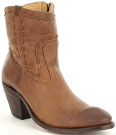 Justin Boots Stonewashed Woven Cord Block Heel Booties