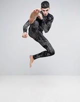 Asos Loungewear Halloween Pajama Set With Spider Web Print