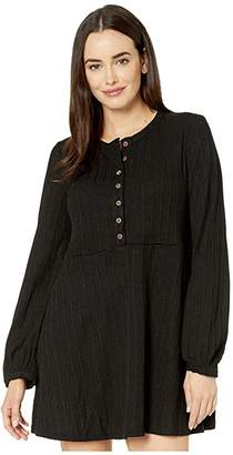 American Rose Malia Long Sleeve Button-Up Dress with Pockets