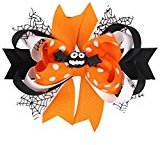 TRENDINAO Baby Girls Halloween Bowknot Hairpin Hair Clip for Halloween Party