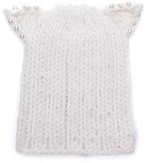 Eugenia Kim Knit Hat w/ Cat Ears, White