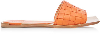 Bottega Veneta Stuoia Leather Sandals