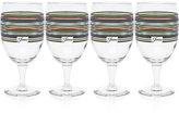 Fiesta Slate & Sage Stripe Set of 4 Goblets