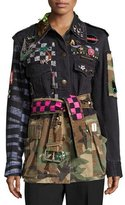 Marc Jacobs Embellished Camouflage Denim Jacket, Multi