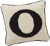 Alphabet Needlepoint Pillow, O