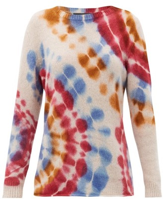 The Elder Statesman Tie-dyed Cashmere Sweater - Ivory Multi
