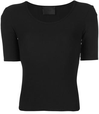 Wone Short-Sleeve Ribbed Top