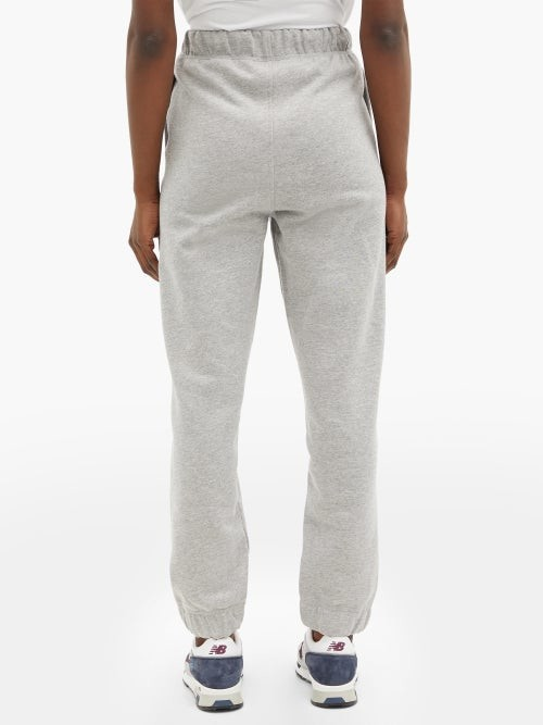 Thumbnail for your product : Ganni Software Recycled Cotton-blend Track Pants - Light Grey