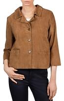 Gerard Darel Alana Cropped Leather Jacket