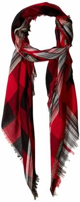 Collection XIIX Women's Buffalo Plaid Slub Stripe Wrap