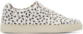 Paul Smith White Ant Print Low-top Sneakers